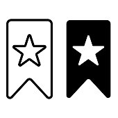 Bookmark glyph icon on a white background, can be used in design, printing, etc.