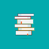 Books icons set with shadow. Vector eps10