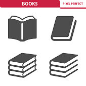 Professional, pixel perfect icons depicting various books concepts.