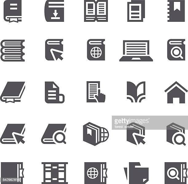 Books reader icons