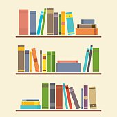Bookshelf Graphic Vector Illustration