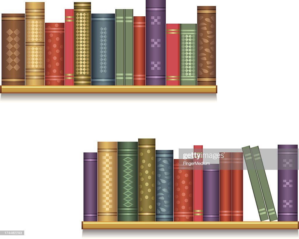Bookshelf Vector Art Getty Images