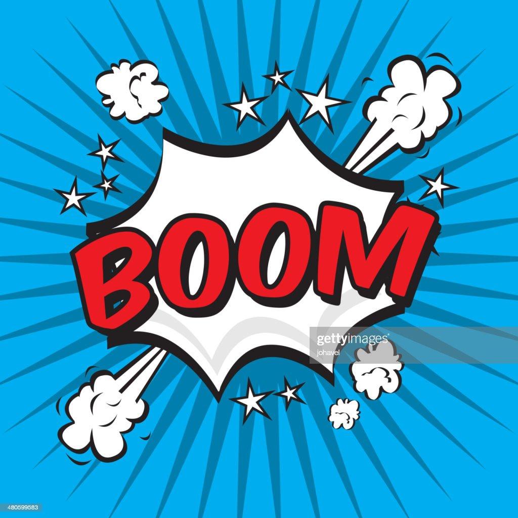 boom comics icon : Vector Art
