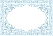 Islamic style border frame for certificate ready to print