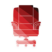 Boss armchair icon. Flat color design. Vector illustration.