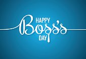 boss day icon line concept design background 10 eps