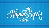 boss day icon vintage lettering design background 10 eps
