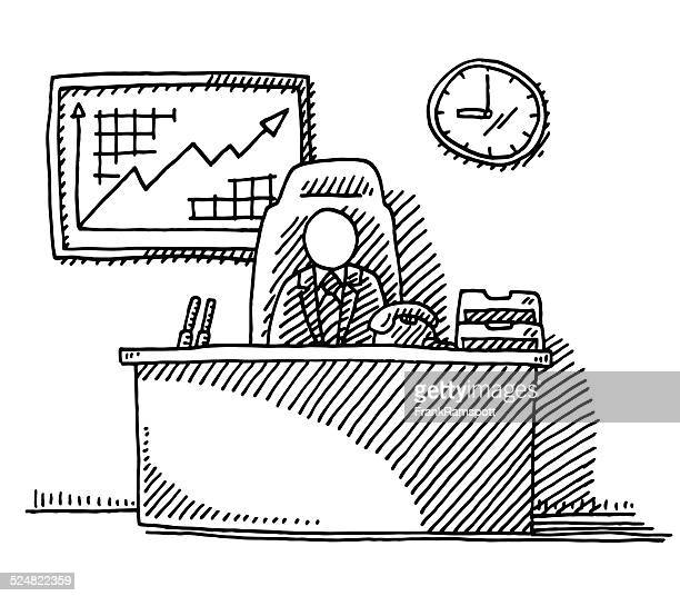 Drawing Lines In Office : Line drawing furniture clip art stock illustrations and