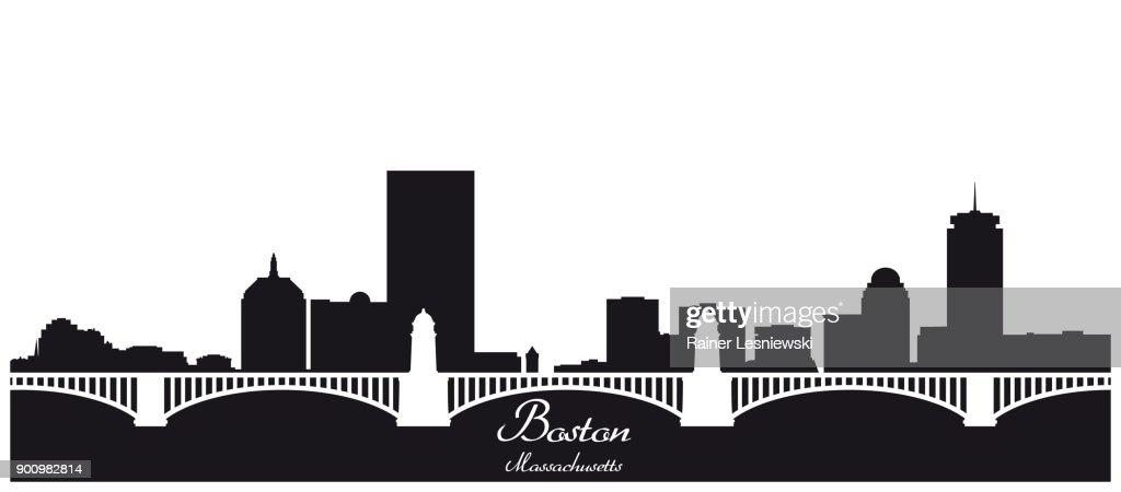 boston skyline black and white silhouette vector art thinkstock rh thinkstockphotos co uk Boston Skyline Silhouette Boston Skyline Silhouette