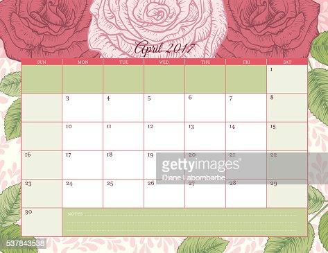 Desk Pad Calendar 2017