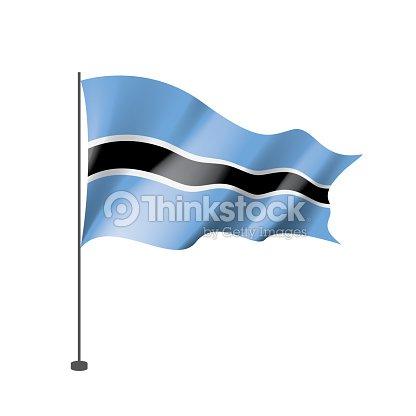 Botswana Flag Vector Illustration On A White Background Vector Art