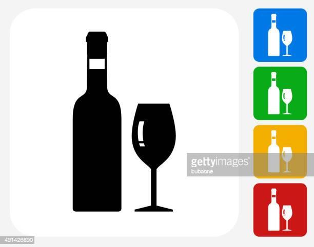 Bottle Icon Flat Graphic Design