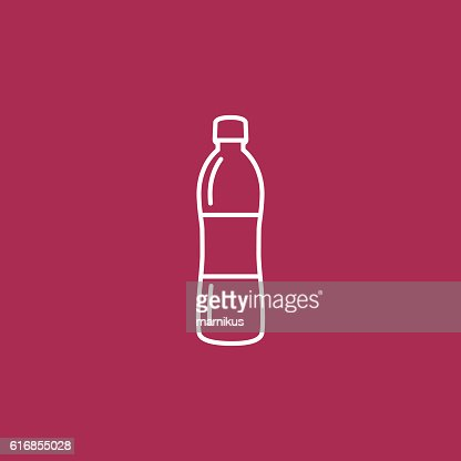 Bottle water Icon : Vector Art