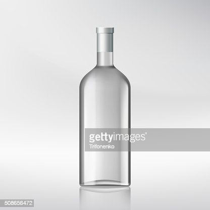 bottle with alcohol. : Vector Art
