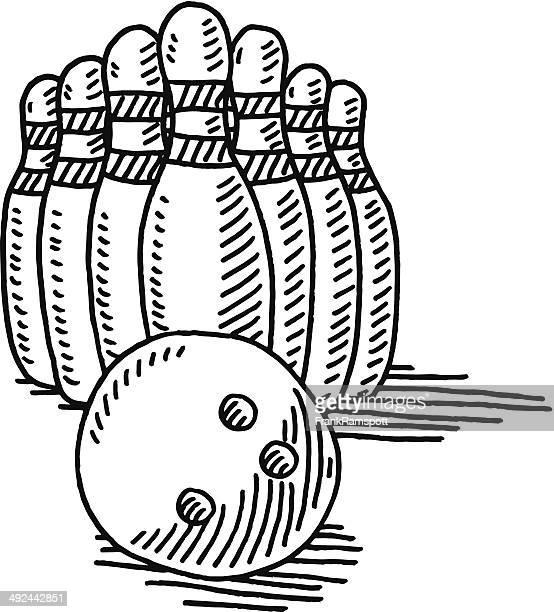 Illustrations et dessins anim s de boule de bowling getty images - Bowling dessin ...