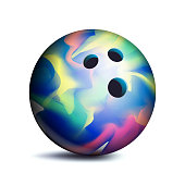 3D Bowling Ball Vector. Classic Ball. Illustration