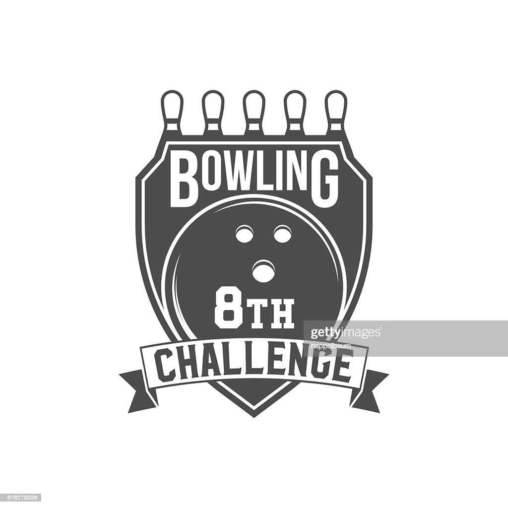 bowling emblem, label, badge and designed elements : Vector Art