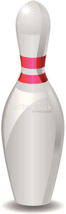 Quille de bowling clipart vectoriel thinkstock for Decoration quille de bowling