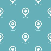 Bowling map pointer pattern seamless blue. Simple illustration of  vector pattern seamless geometric repeat background