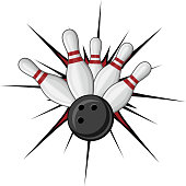 Bowling symbol for sports design