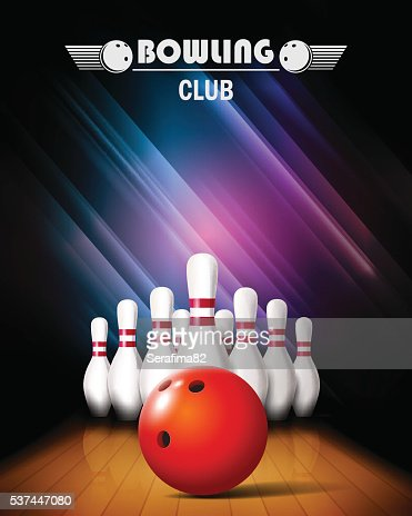 Bowling tournament poster. : stock vector
