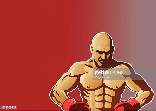 Boxer Fighter With Copy Space