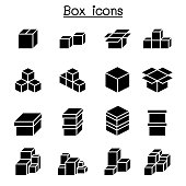 Boxes icon set