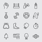 Boxing line icon