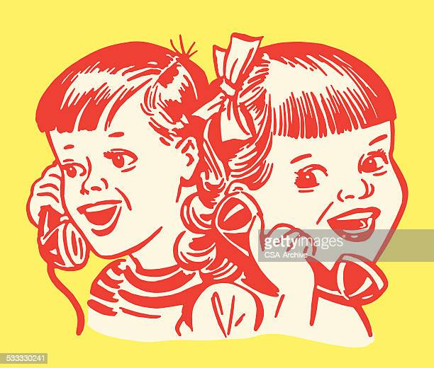 Boy and Girl on Telephone