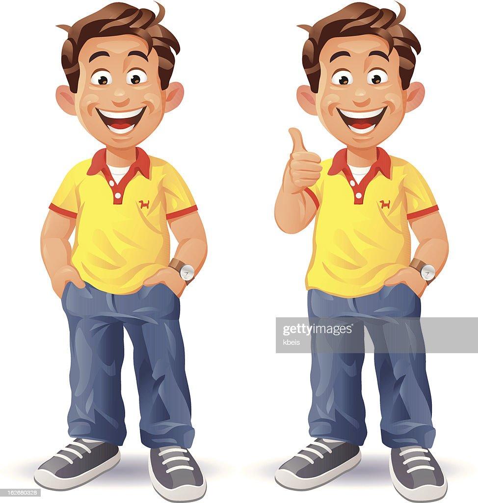 Boy Thumbs Up : Vector Art