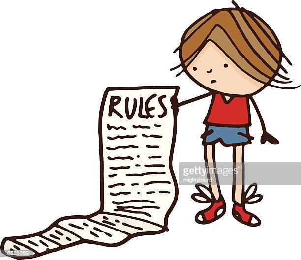 Boy with list of rules