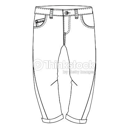 Boys Clothes Flat Sketch Template Isolated Vector Art | Thinkstock