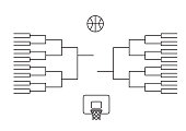 Bracket tournament march line background  vector illustration