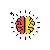 Brain concept Isolated Line Vector Illustration editable Icon