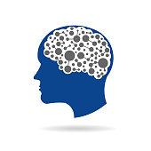 Brain Connections Logo Vector illustration Concept for Neuroscience