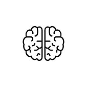 Brain icon, creative mind symbol vector design template can be use for symbol, banners, webpages, etc