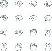 Brain vector icons