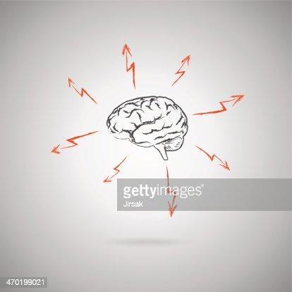 Brainstorming-Konzept : Vektorgrafik