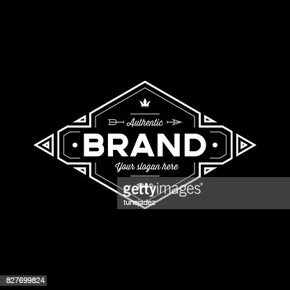 brand black : Vector Art