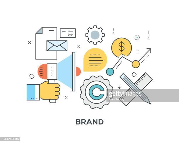 Brand Concept with icons