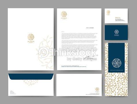 branding identity template corporate company design set for bus