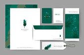 Branding identity template corporate company design, Set for business hotel, resort, spa, luxury premium icon,