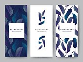 Branding Packageing leaf nature background, logo banner voucher, spring summer tropical, vector illustration
