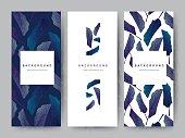 Branding Packageing leaf nature background, logo banner voucher, spring summer tropical, vector illustration