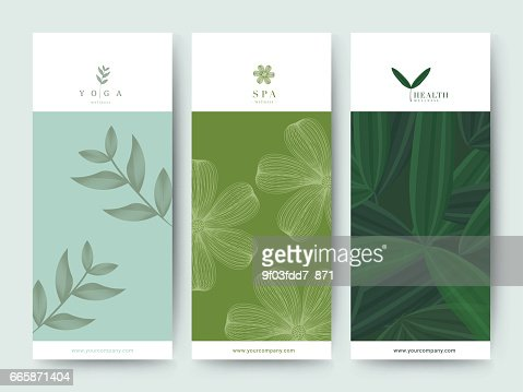 Branding Packaging Flower nature background, logo banner voucher, spring summer tropical, vector illustration : Vector Art