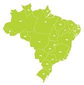 Mapa vetorizado do Brasil político