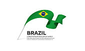 Brazil, country, flag, vector, icon