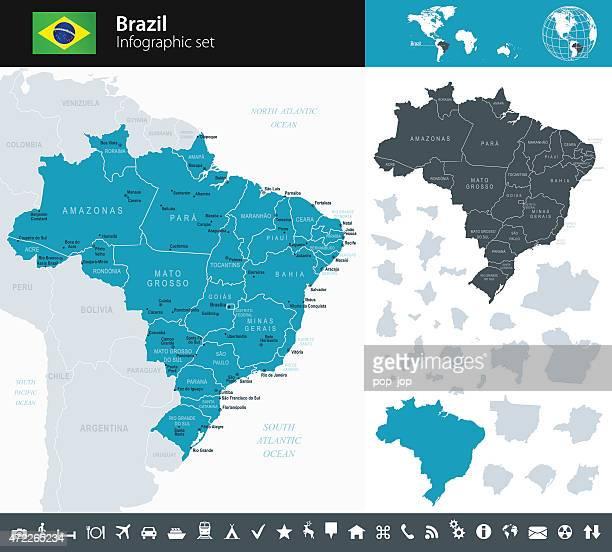 Brasilien-Infografik Karte-illustration