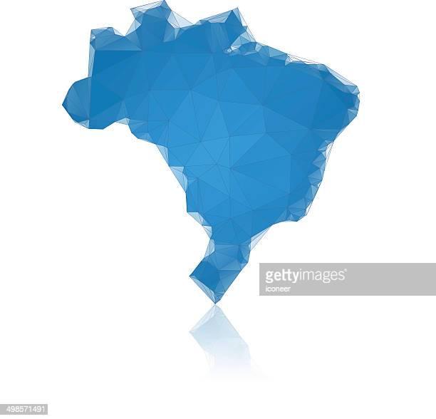 Brasilien Karte Blau 0000