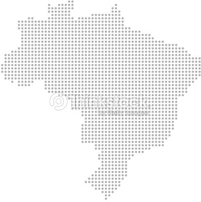 Brazil Map Dots Vector Outline Dotted Map Point Patterns Map ...